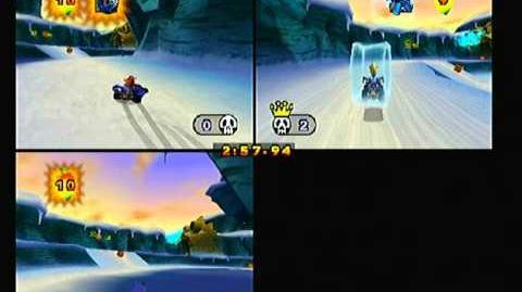 Crash Nitro Kart Multiplayer - Frozen Frenzy Battle