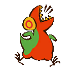 Cave painting trex chicken sticker