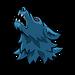 Werewolf howling sticker