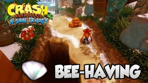"Crash Bandicoot 2 - ""Bee-Having"" 100% Purple Gem and Clear Gem (PS4 N Sane Trilogy)"