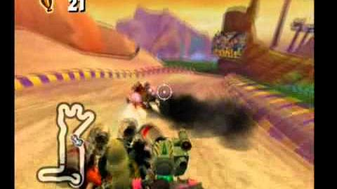 Crash Tag Team Racing 100% Walkthrough - 33 -Pyramid Pass