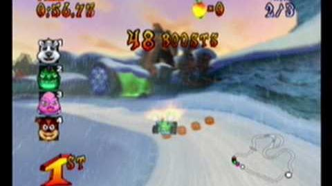 Crash Nitro Kart-Meteor George race