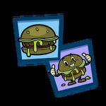 Team burger sticker pack