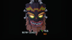 Game Over Screen in N Sane Trilogy