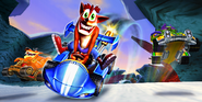 Crash Nitro Kart Meteor Gorge Promotional Desktop