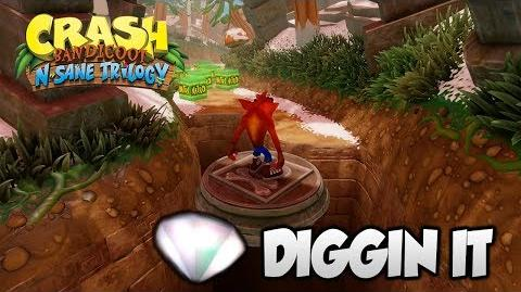 "Crash Bandicoot 2 - ""Diggin It"" 100% BOTH Clear Gems and All Boxes (PS4 N Sane Trilogy)-1"