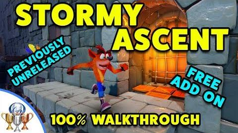 Crash Bandicoot Stormy Ascent 100% PS4 Walkthrough - Cut From Original, Unreleased VERY HARD Level