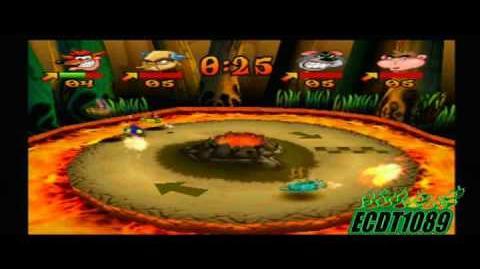 Crash Bash Playthrough Part 85 Dante's Dash Gem Challenge