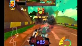 Fossil Fuel Injection Crash Tag Team Racing Gameplay