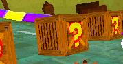 Crash Bandicoot Nitro Kart 3D Question Mark Crate