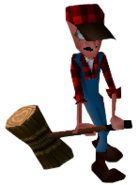 Crash Bandicoot 2 Cortex Strikes Back Lumberjack Lab Assistant