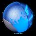 Atomic blue paint