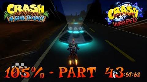 Crash Bandicoot 3 - N. Sane Trilogy - 105% Walkthrough, Part 43 Area 51? (Both Gems & Time Trial)-0