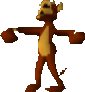Crash Bandicoot Rolling Monkey