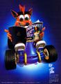 CTR - Crash reading PlayStation Magazine.png