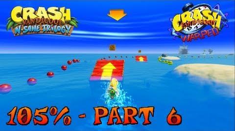 Crash Bandicoot 3 - N. Sane Trilogy - 105% Walkthrough, Part 6 Makin' Waves (Gem)