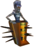 Crash Bandicoot 3 Warped Spiked Coffin Mummy Lab Assistant