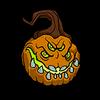 Pumpking lord head sticker