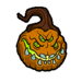 Pumpking lord head sticker