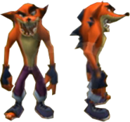 Crash Tag Team Racing Evil Crash Bandicoot