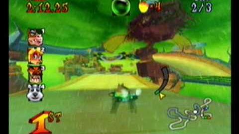 Crash Nitro Kart-Thunder Struck race