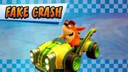 Fake Crash Crash Team Racing Nitro-Fueled