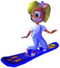 Crash Bandicoot The Wrath of Cortex Coco Bandicoot Snowboard