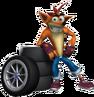 Crash Tag Team Racing Crash Bandicoot with Tires