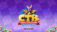 Spyro CTR NF Title Screen
