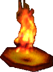 Crash Bandicoot Flaming Platform