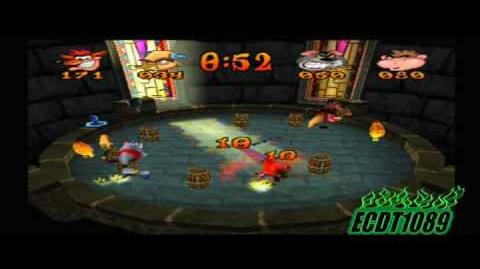 Crash Bash Playthrough Part 83 Keg Kaboom Crystal Challenge