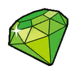 Green gem sticker