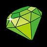 Green gem sticker