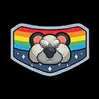 Space koala sticker