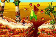 Crash Bandicoot 2 - N-Tranced crocodile