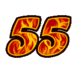 Fifty-Five Sticker