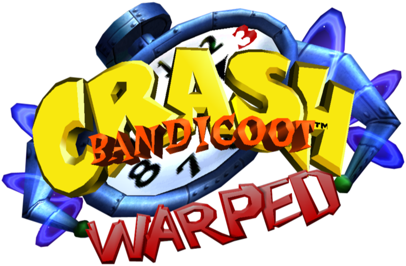 image crash bandicoot 3 warped logo png bandipedia fandom
