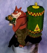Dingodile in Wrath of Cortex