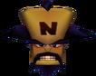 Crash Bandicoot 3 Warped Doctor Neo Cortex Head in Vortex