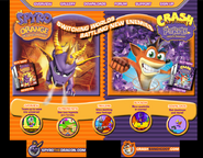Spyro Orange Crash Purple Website