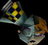 Doctor N. Gin Head in Vortex Crash Bandicoot 3 Warped