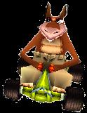 Crash Team Racing Dingodile