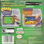 Crash Purple Spyro Orange Back of Box