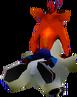 Crash Bandicoot riding Polar Crash 2