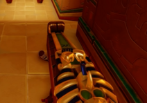 Crash crushed by sarcophagus
