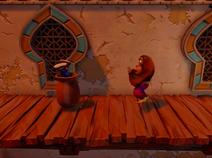 Crash stuck in a pot
