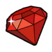 Red gem sticker