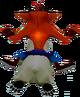 Cortex Strikes Back Crash Bandicoot riding Polar