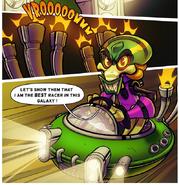 Nitro fueled comic hovercraft