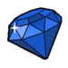 Blue gem sticker